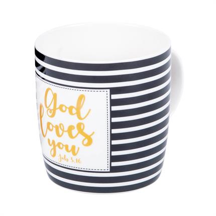 "Tasse ""God loves you"""