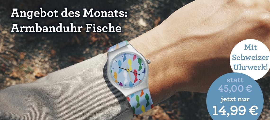 Angebot des Monats: Armbanduhr Fische