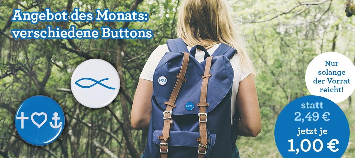 Angebot des Monats: Buttons