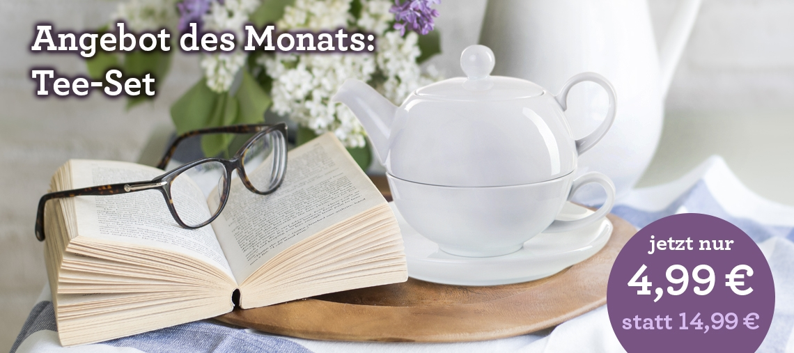 "Angebot des Monats: Tee-Set ""Trio"""