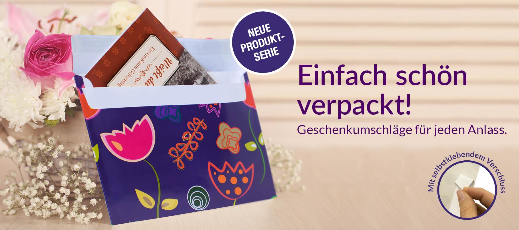 Geschenkumschläge - praktisch, schön, verpackt